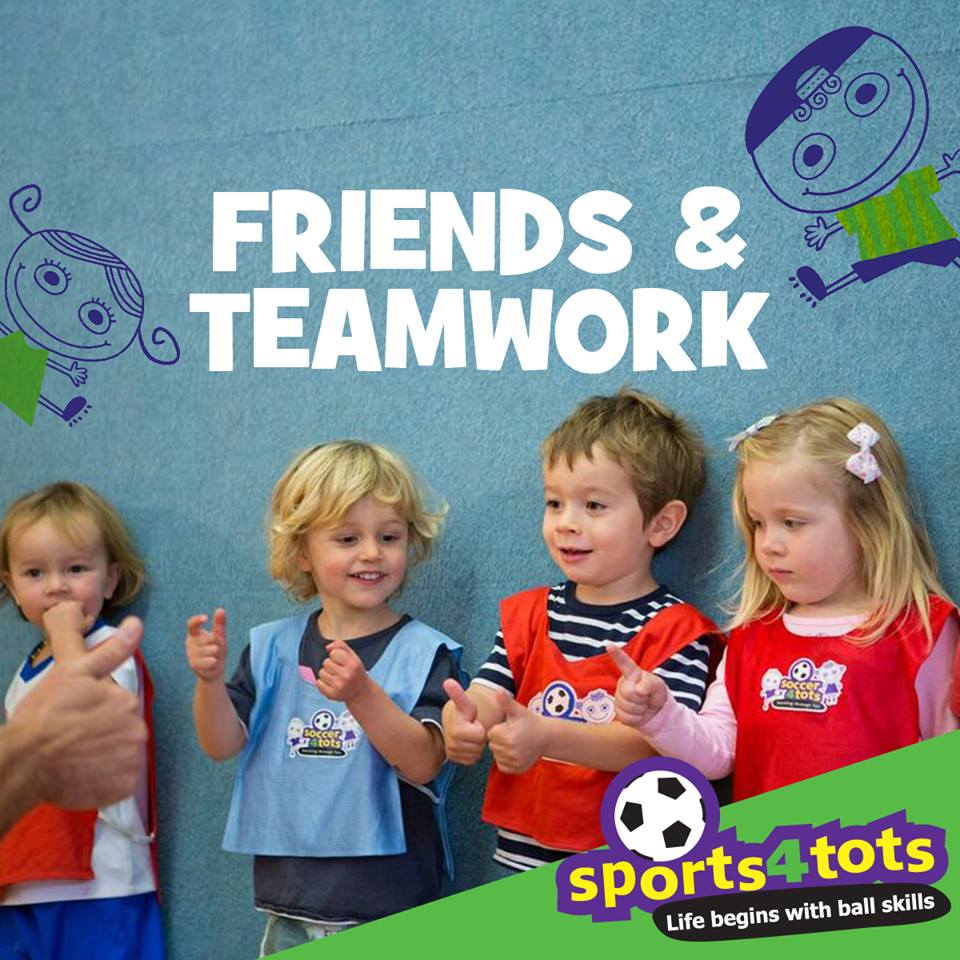 Making friends at Sports4tots